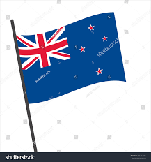 Nee Zealand Flag Flag New Zealand New Zealand Flag Stock Vector 696337171