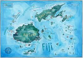 Fiji Islands Map Sarah Larnach For Tourism Fiji Via Colenso Bbdo