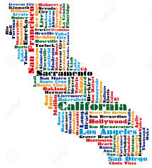 Sac State Map Word Cloud Map Of California State Royalty Free Cliparts Vectors