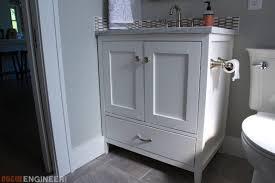 Bathroom Cabinet Plans 30in Bathroom Vanity Rogue Engineer