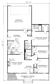 Country Style House Floor Plans Country Style House Plan 3 Beds 2 00 Baths 1381 Sq Ft Plan 17 1051