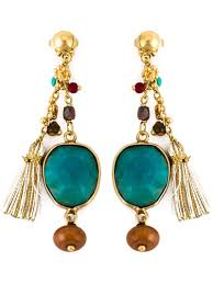 gas earrings lyst gas bijoux serti pondichery earrings in blue