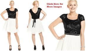 junior plus size club dresses black and white cute junior club