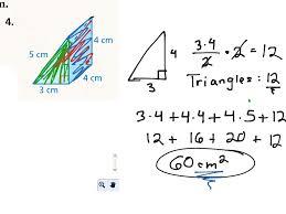showme triangular prism surface area