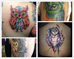 owl watercolor tattoo tattoo collections