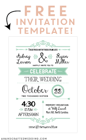 wedding invitations free free printable wedding invitation template free printable