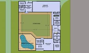 courtyard style house plans floor plan courtyard style house plans home image of