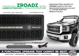 american made led light bar zroadz series led light grille collection