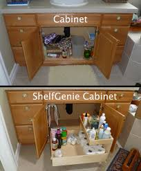 Bathroom Countertop Storage by The Recipe For Turning This Cabinet Into A Shelfgenie Cabinet Add