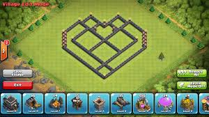 layout coc town hall level 7 epic town hall 7 farming base build heart design