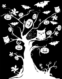 halloween owl silhouette clipart halloween tree inverse silhouette