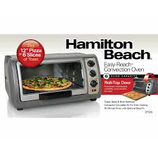 Cooking In Toaster Oven Hamilton Beach Easy Reach Convection Oven 31126