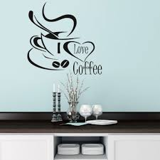 online get cheap cute lovely wallpaper aliexpress com alibaba group i love coffee wall decal cute coffee cup wall sticker kitchen restaurant kitchen cup with love