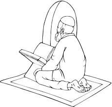 moslem is praying coloring page free printable coloring pages