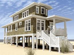 beach style house plans small beach house plans on pilings two storey all about house design