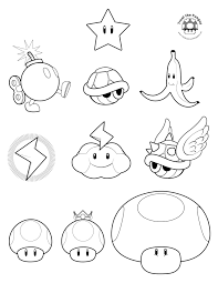 mario mushroom coloring pages getcoloringpages com