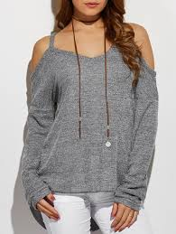 cold shoulder sweaters sweaters cardigans gray s high low cold shoulder sweater gamiss