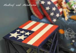 How To Paint American Flag Diy Flag Table Redo Meatloaf And Melodrama