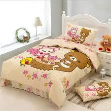 Junior Cot Bed Duvet Set Aliexpress Com Buy Japanese Cartoon Kawaii Bear Rilakkuma