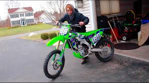 new motocross bikes new dirt bike graphics kx250f bike work youtube