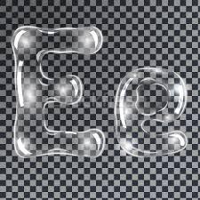 bubbles letters e vector illustration borys dyvyzyniuk
