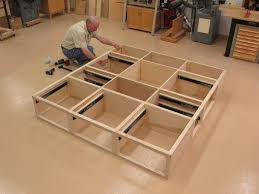 awesome plans for platform bed with storage drawers 54 for your