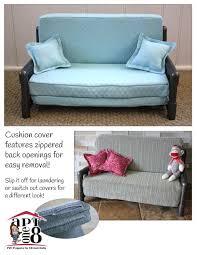 aptone8 sleeper sofa pvc pattern 18 inch dolls such as american