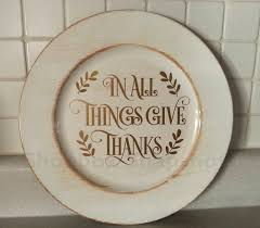 thanksgiving custom thanksgiving charger plates personalized plate fall decor