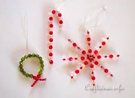 crafts for beaded ornaments and wreath