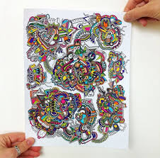 khaos crazy colorful drawing illustration has a detailed and