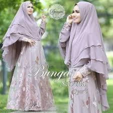 Baju Muslim Brokat model baju gamis brokat terbaru