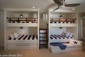 Bunk Beds With Trundle Bunk Bed With Trundle In Kids Traditional With Nautical Railing