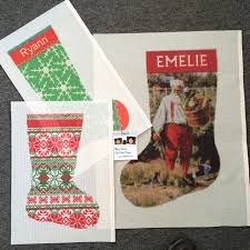 holiday stockings needlepoint kits and canvas designs
