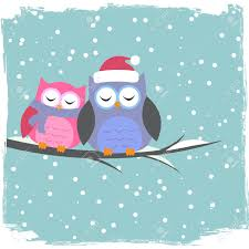 winter card with cute owls royalty free cliparts vectors and