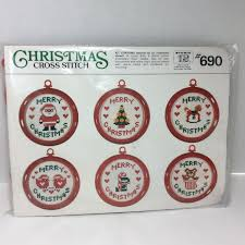 ornaments cross stitch kit by studio 12 six different