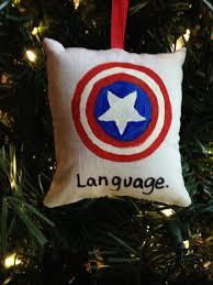 captain america language ornament marvel