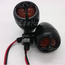 star signal emergency lights universal motorcycle metal black bullet led turn signal indicator