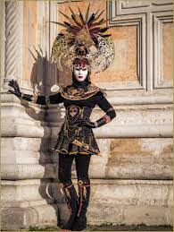 venice carnival costumes black and gold simple costume with a headdress carnival of