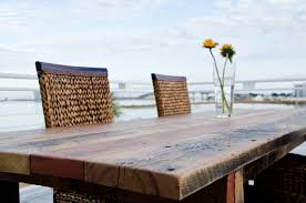 tremendous pine patio furniture heart dining table up close view