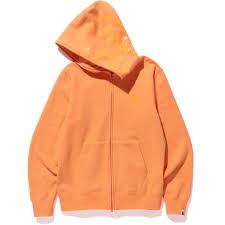 neon color shark full zip hoodie mens us bape com
