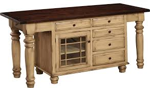 amish roseburg island with two drawers and two doors wood n choices
