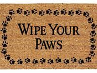 Buy Wipe Your Paws Door Home Wipe Your Paws Welcome Mat Floormatshop Com Commercial