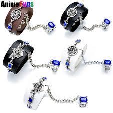 ring charm bracelet images 5 types anime black butler kuroshitsuji punk leather bracelet ring jpg