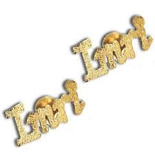 Gold Name Earrings Gold Plated Name Earrings Ebay