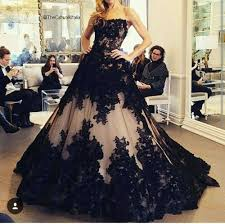 black wedding new fashion gown black wedding dress 2016 the shoulder