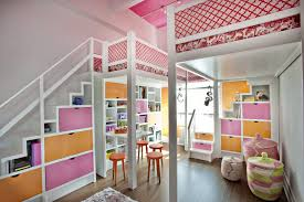nice rooms for girls pink and orange lofted girls room project nursery