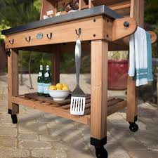 Patio Serving Table Serving Cart