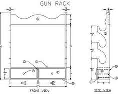 How To Make A Gun Cabinet by Gun Rack Plan Diy And Crafts Pinterest Guns Woodworking And