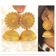 jhumka earrings uk gold earrings without indian jewellery ebay