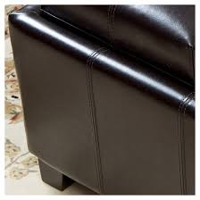 mansfield faux leather tray top storage ottoman christopher